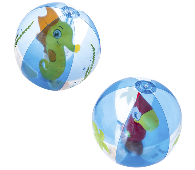 Pelota Inflable De Playa Con Inflable De Animalitos Por Dentro 51 cm Bestway