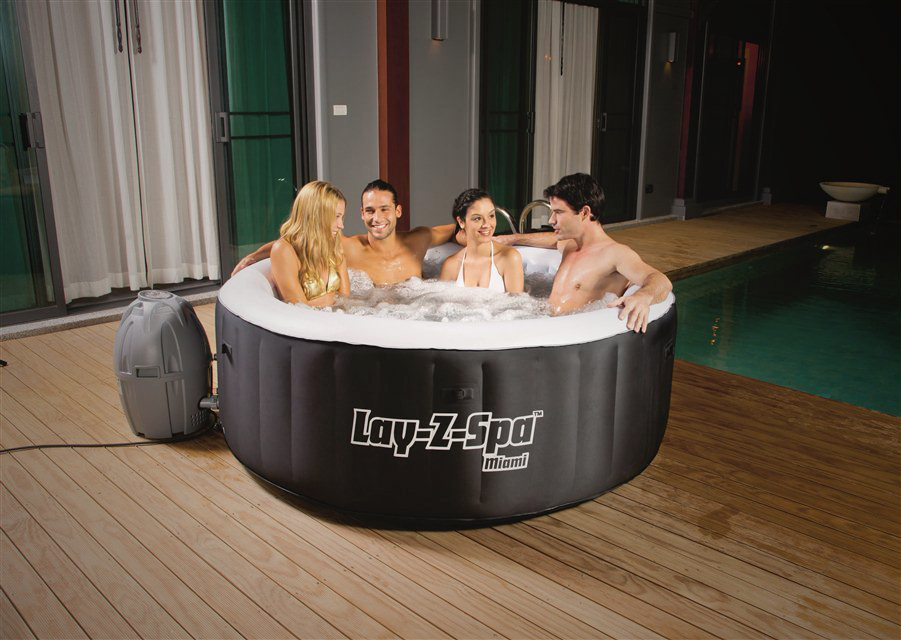 Jacuzzi Inflable Miami Lay-Z-Spa AirJet 800 Lts. Bestway