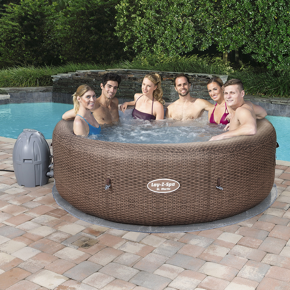 Jacuzzi Inflable Lay Z Spa Moritz Ratan Air Jet 1190 Litros Bestway