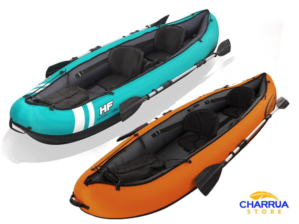Kayak Inflable Hydro Force Con 2 Remos E Inflador